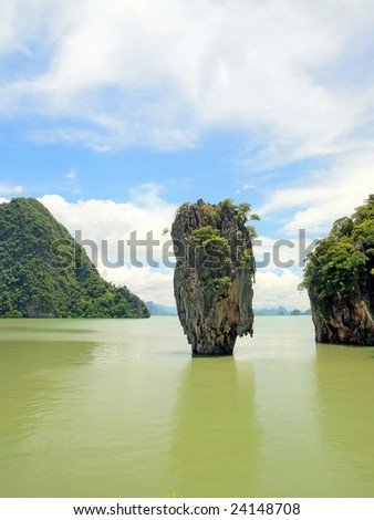 James Bond island by day view, Thailand