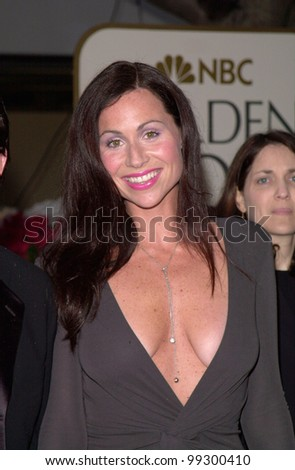 23JAN2000:  Actress MINNIE DRIVER at the Golden Globe Awards in Beverly Hills.  Paul Smith / Featureflash
