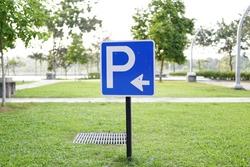 12 january 2017,.Putrajaya, Malaysia. parking signage on  grass