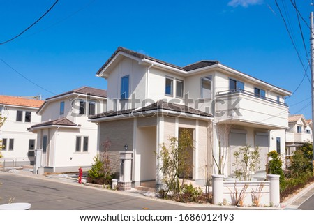 Japanese residential area Image February 2020 Stockfoto ©