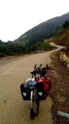 Journey of touring bike,mountainroad trip,Northern Vietnam