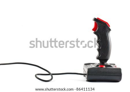 ,joystick isolated on white,