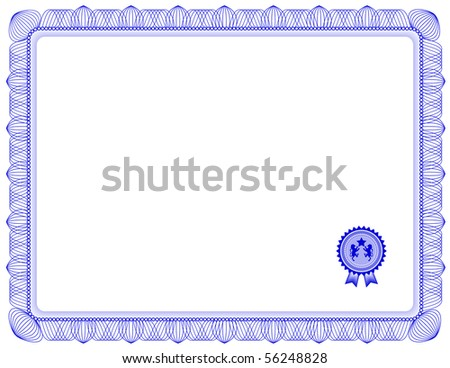 Jpg) Certificate Of Completion Template; (A Vector With Sample