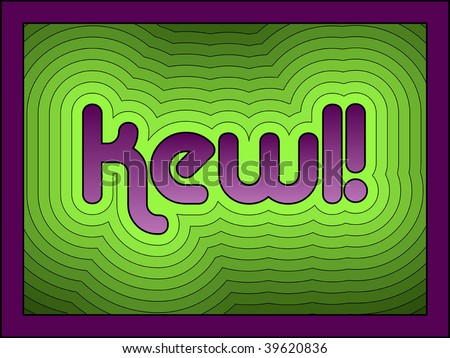 (Jpg) Kewl has become a popular fun alternative to the word 'cool'. A vector version is also available.