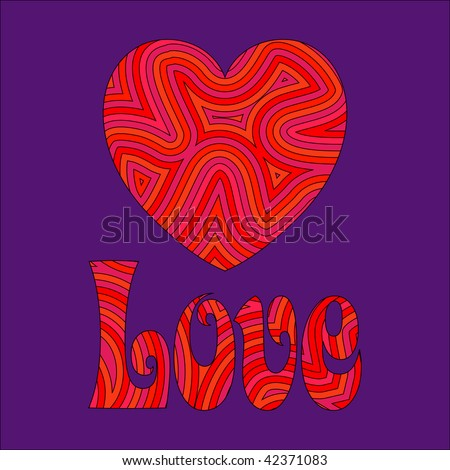(Jpg) Psychedelic love. Be my Groovy Valentine!!