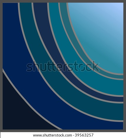(Jpg) Shades of blue offset design, with option for copy space. A vector version is also available.