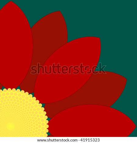 (Jpg) Simple red flower design. A vector version is also available.