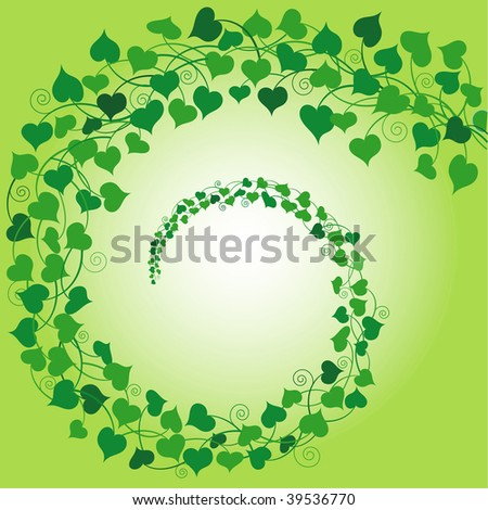 (Jpg) Swirly background of 'String of Hearts' plant. A vector version is also available