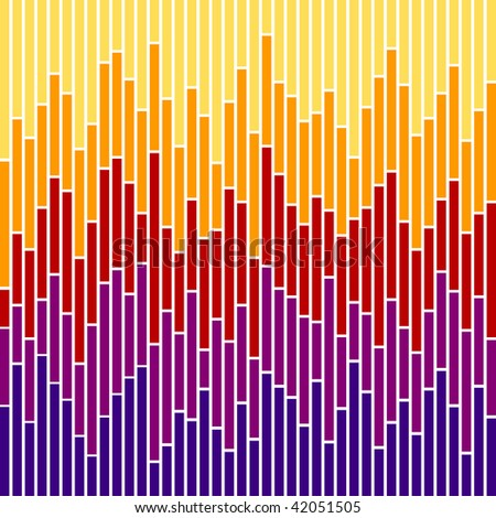 (Jpg) Vertical stripes in sunset colours, based on bar charts. A vector version is also available.