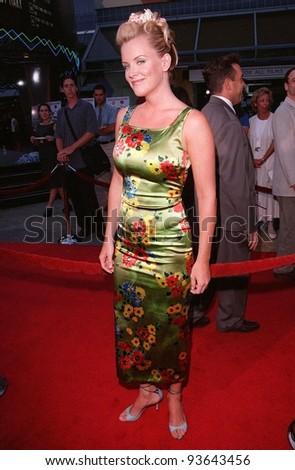 "28JUL98:  Actress/presenter JENNY McCARTHY at the premiere of ""BASEketball"" at Universal Studios.  She stars in the movie with Yasmine Bleeth, Trey Parker & Matt Stone."