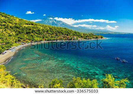 20 Jule - Indonesia, Bali. Azure beach Amed
