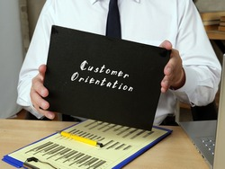 Juridical concept about Customer Orientation with phrase on the page.