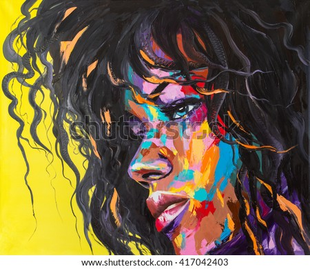 "Stock Photo ""Just don't anger me"" Original oil painting on a canvas, a fantasy woman resembling Horgon"