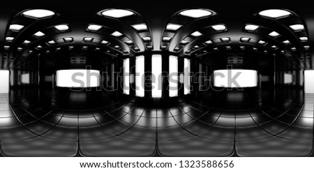 8K HDRI map, spherical environment panorama background, modern high contrast interior light source rendering (3d equirectangular rendering) Сток-фото ©