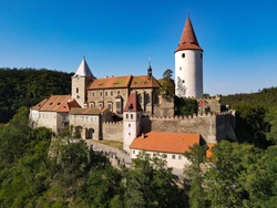 Křivoklát Castle is located in the Czech Republic. It has been protected as a cultural monument since 1965. Beautiful place hidden in the Czech forests.