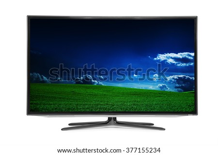 4k monitor isolated on white #377155234