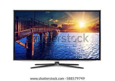 Shutterstock 4k monitor isolated on white