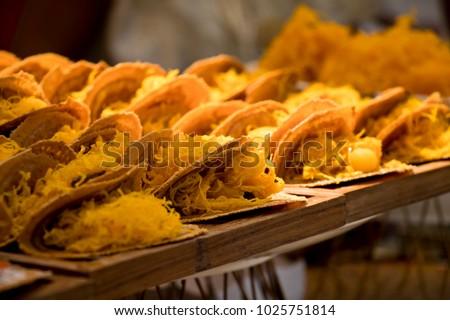 """Kanom Buang"" (Thai Crispy Pancake) - Shutterstock ID 1025751814"