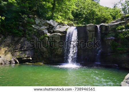 Karaoluk ciseli waterfall, Ordu, Turkey                                             Stok fotoğraf ©