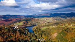 Karpaty, Silesian Beskids, water reservoir in Wisła