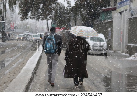 Kashmir receives season's first snowfall The snowfall, which began in the higher reaches of the Valley on Thursday, has considerably brought down the maximum temperature in Kashmir.  #1224546457