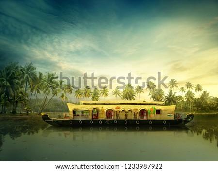Kerala house boat #1233987922