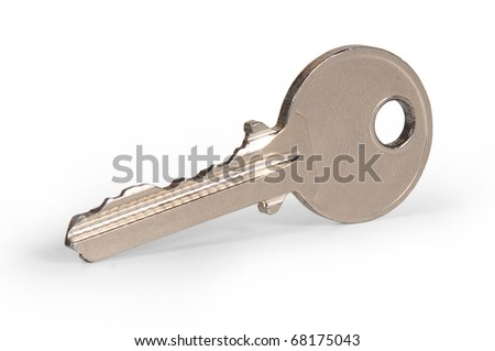 """key of door lock with white bottom   """