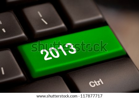 2013 Key On Keyboard. New year.