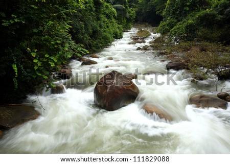 Khao Banjob Waterfall at chanthaburi, Thailand