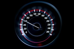 60 Kilometers per hour,light with car mileage with black background,number of speed,Odometer of car