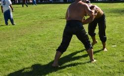 Kirkpinar Turkish Oil Wrestling Festival at Edirne in Turkey.