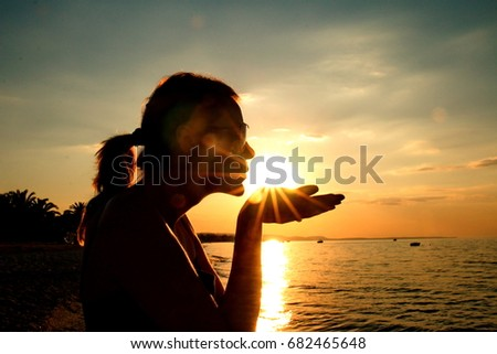 kissing the sun