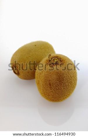 Kiwi fruits with white background