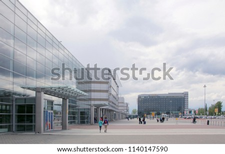 KOLTSOVO, YEKATERINBURG, RUSSIA - JUNE 11, 2018: The building of the terminal of  Koltsovo International Airport #1140147590