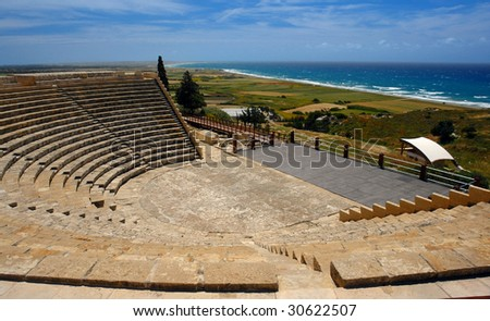 kourion archeological site in cyprus