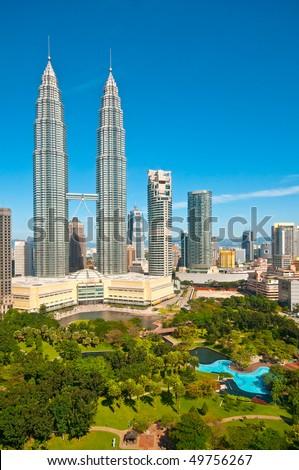 Kuala Lumpur and gardens