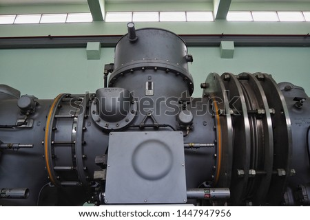 Indoor gas insulated switchgear (GIS) in the substation Images and