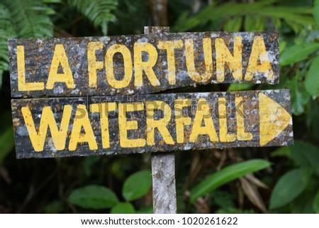 La Fortuna waterfall,Arenal volcano. Province of Alajuela, canton of San Carlos,Costa Rica, Central America