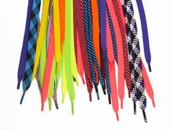 Laces multicolored bright