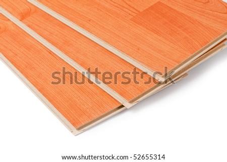 laminate floor on wooden background