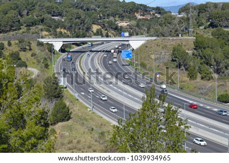 Landscape of highways and roads #1039934965