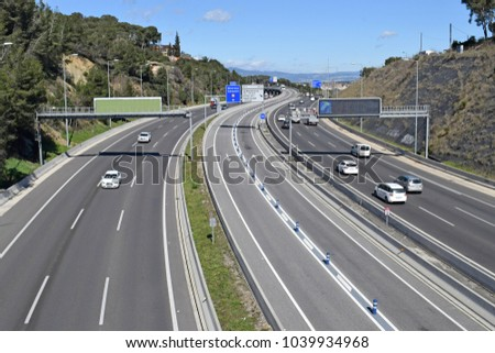 Landscape of highways and roads #1039934968