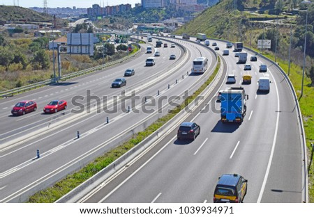 Landscape of highways and roads #1039934971