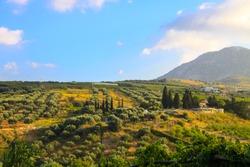 Landscape view of Crete, Greece.