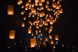 1001 Lantern Festival from Borobudur Temple