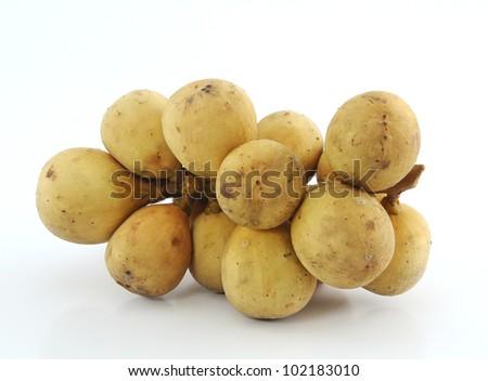 Lanzones fruit isolated on white background