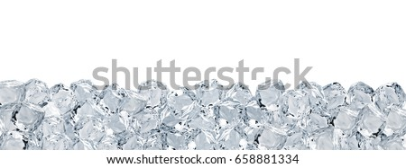 Large format ice cubes background isolated on white background #658881334