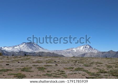 large headed volcano seventh region of chile Foto stock ©