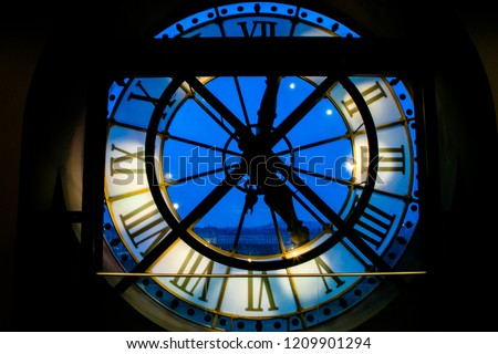 \nlate afternoon inside the gear of the old clock of a tower of a train station in europe