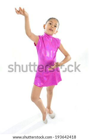 11f3e2f9b latin cute young little girl putting on dancing and ballet shoes ...